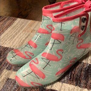 Flamingo booties